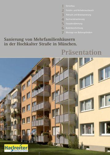 1 2 3 4 5 6 7 Sanierung von Mehrfamilienhäusern in der Hochkalter ...