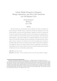 Labour Market Dynamics in Germany: Hirings ... - ResearchGate