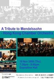 Felix Mendelssohn's Bicentenary Concert
