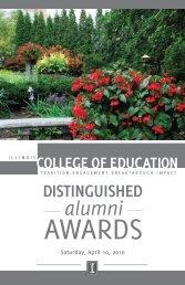Download the 2010 Distinguished Alumni Awards Program (PDF)