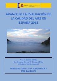 Avance Informe evaluacion calidad aire España 2013_tcm7-342863
