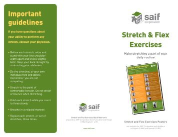 Stretch and flex - SAIF Corporation