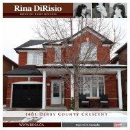 1481 Derby County Crescent - Rina DiRisio