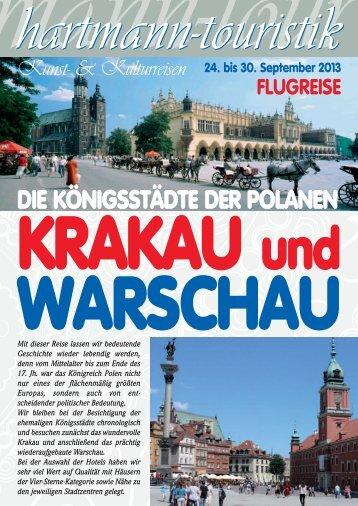 30.09.2013 Krakau und Warschau - touristik-hartmann.de