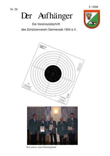 Der Aufhänger Nr. 29 - Schützenverein Germerode 1924 e. V.