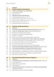 7 Vorwort 11 1 Standortwahl der Unternehmen 37 2 Theorien der ...