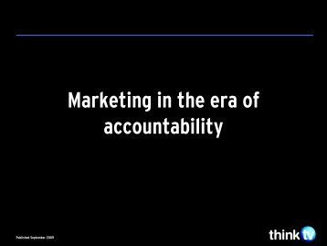 The Era of Accountability - Think TV