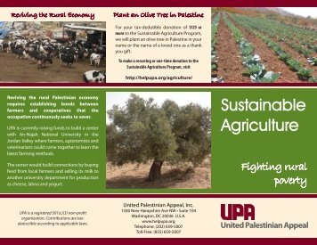 Sustainable Agriculture - United Palestinian Appeal