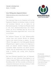 Aus Wikipedia abgeschrieben - Wikimedia Deutschland