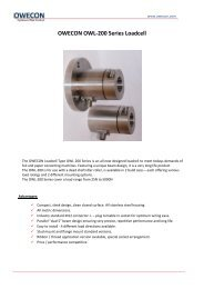 OWECON OWL-200 Series Loadcell - Owecon.com