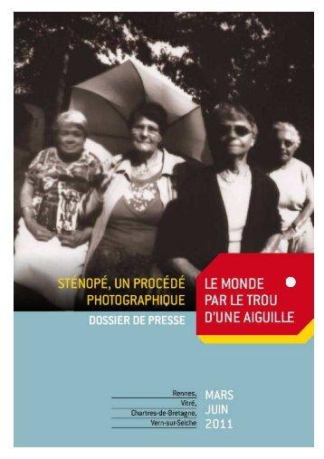 Dossier presse sténopé 2 décembre 2010 - La criée