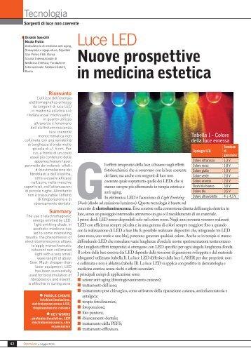 Luce LED Nuove prospettive in medicina estetica - Sponzilli.it
