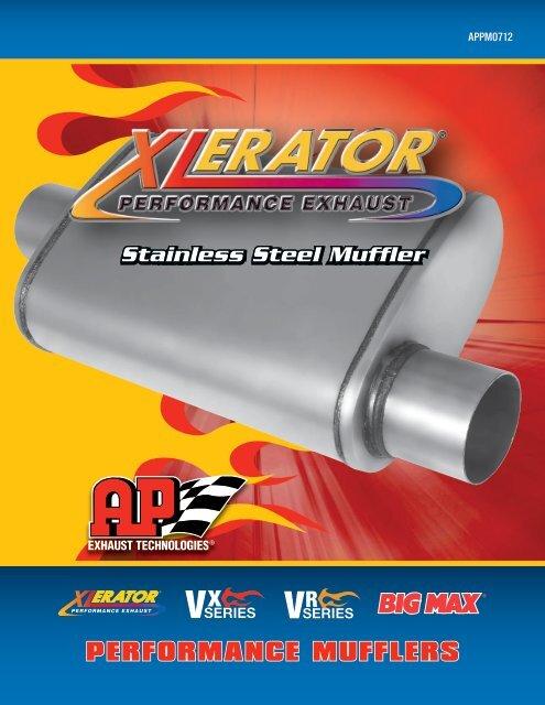 "NEW Xlerator VX4134 V-Flow Performance Muffler 4 1//4/"" x 9 1//2/"" Duals//Duals"