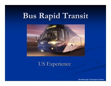 US - Bus Rapid Transit Policy Center