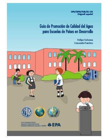 Guía para la promoción de la calidad del agua en ... - BVSDE