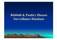Animal & Poultry Disease Surveillance Database - Caribvet