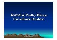 Animal & Poultry Disease Surveillance Database - Caribvet