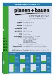 Anzeigentarif | Ausgabe Nr. 34 · November 2010 - bei Planen und ...