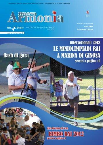 Armonia quarto numero anno 2012.