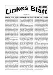 Ausgabe Nr. 9 vom 17. Mai 2011 - DIE LINKE. Halle /Saale