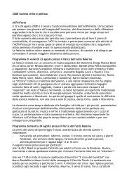 2008 Società civile e politica ACPinFesta Il 22 e 24 agosto 2008 si è ...