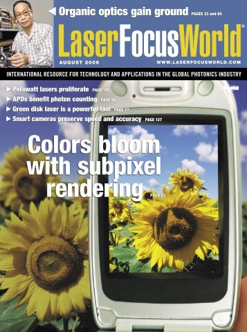 Colors bloom with subpixel rendering PAGE 23 - Sensors Unlimited