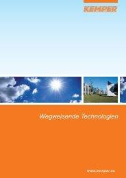 KEMPER autodark® und autoflow XP® – aktiver ... - KEMPER Solar