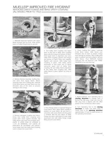 fire hydrant operating instructions