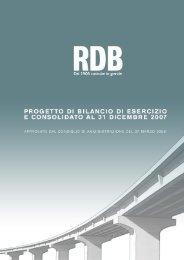 Il Gruppo RDB Overview sul 2007 pag. 1