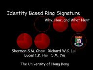 Identity Based Ring Signature