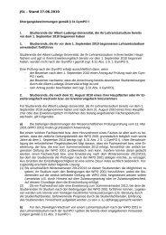 Übergangsbestimmungen gemäß § 31 GymPO I