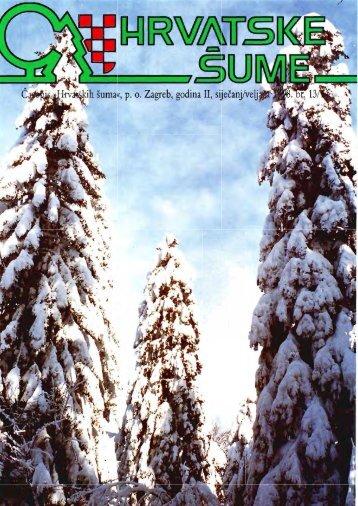 HRVATSKE ŠUME 13/14 - 1-2/1998