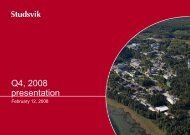 620 KB - Investor Relations - Studsvik