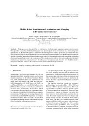 Mobile Robot Simultaneous Localization and Mapping in Dynamic ...