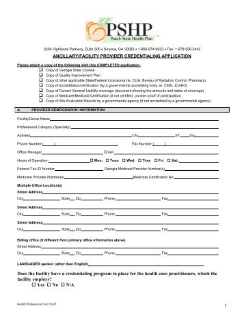 CAQH FORM PDF APPLICATION