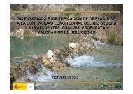Inventario de obstáculos en la cuenca del Segura. (Ginés Toral