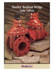 Page 1 Page 2 Mueller® Resilient Wedge Gate Valve Triple 0-ring ...