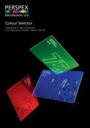 Click here to download the Perspex ® colour selector.