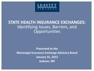 Identifying Issues, Barriers & Opportunities for State Exchanges