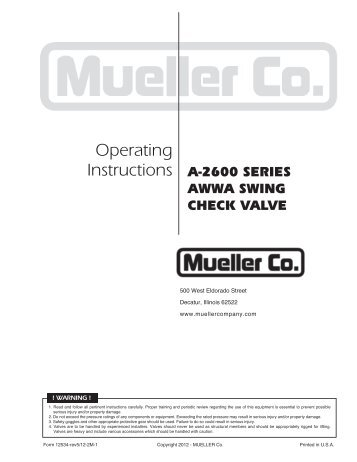 Lineseal Manual - Mueller Co.