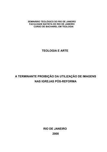 Teologia e arte - Seminário Teológico Batista do Sul do Brasil