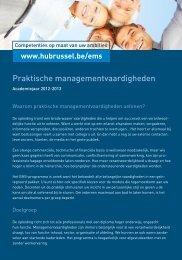 Praktische managementvaardigheden - HUBRUSSEL.net