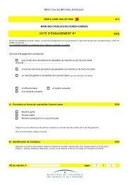ACTE D'ENGAGEMENT N° DC8 - Consulter en ligne