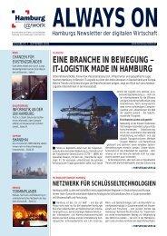 EINE BRANCHE IN BEWEGUNG – IT-LOGISTIK MADE IN HAMBURG