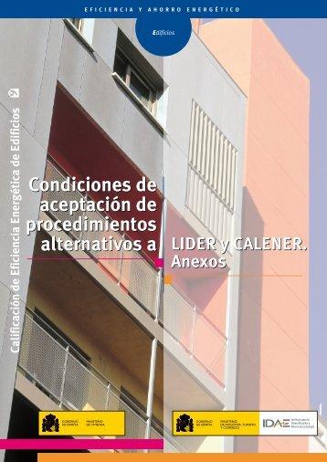 Condiciones de aceptación. Anexos [PDF]