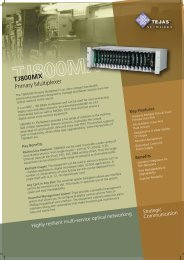 Compact primary multiplexer for 80 E1s with ... - Tejas Networks