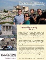 Pierce in Athens program sheet - Franklin Pierce University