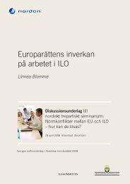 Europarättens inverkan på arbetet i ILO - Stockholms universitet