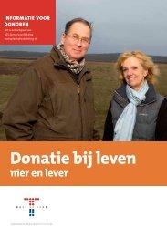 Donatie bij leven 'nier en lever'. - Nederlandse Transplantatie Stichting