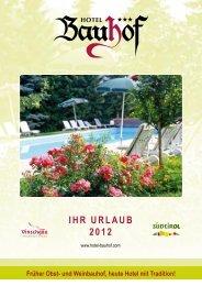 IHR URLAUB 2012 - Hotel Vinschgau
